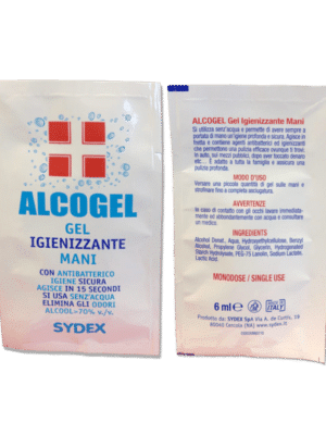 ALCOGEL bustina 6ml. (Alcool 70%)