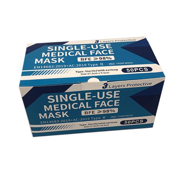 Mascherina chirurgica sterile imbustata singolarmente